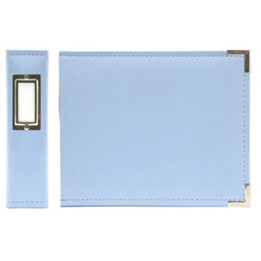 We R Memory Keepers - Classic Leather - 6x6 - Three Ring Albums - Baby Blue