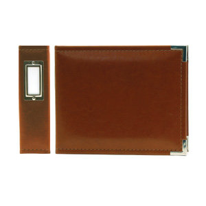 We R Memory Keepers - Classic Leather - 6x6 - Three Ring Albums - Nutmeg