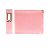 We R Memory Keepers - Classic Leather - 6x6 - Three Ring Albums - Pretty Pink