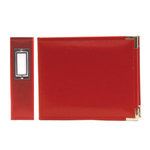 We R Memory Keepers - Classic Leather - 6x6 - Three Ring Albums - Real Red