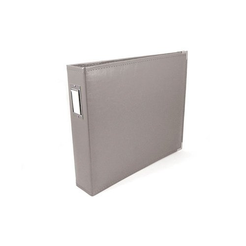 We R Memory Keepers - Classic Leather - 6 x 6 - Two Ring Albums - Charcoal Grey