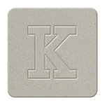 We R Memory Keepers - Raw Goods Collection - Chipboard Letter Squares - Uppercase Alphabet - Letter K, CLEARANCE