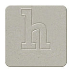 We R Memory Keepers - Raw Goods Collection - Chipboard Letter Squares - Lowercase Alphabet - Letter H, CLEARANCE