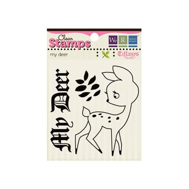 We R Memory Keepers - Tiffanys Collection - Clear Acrylic Stamps - My Deer