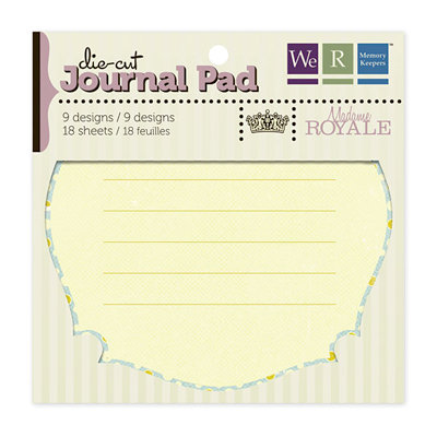 We R Memory Keepers - Madame Royale Collection - Die Cut Journal Pad, CLEARANCE