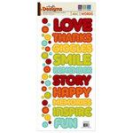 We R Memory Keepers - Embossible Designs - Embossed Cardstock Stickers - Words