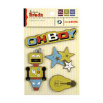 We R Memory Keepers - GeoHectic Collection - Designer Brads, CLEARANCE
