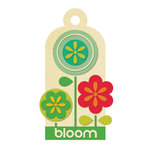 We R Memory Keepers - 72 and Sunny Collection - Embossed Tags - Bloom, CLEARANCE