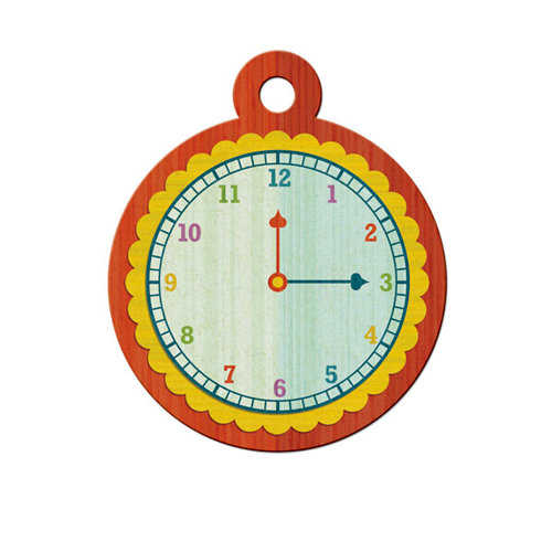 We R Memory Keepers - Show and Tell Collection - Embossed Tags - Telling Time, CLEARANCE