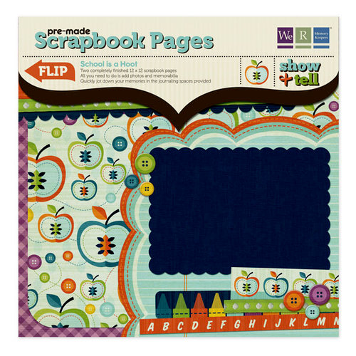 We R Memory Keepers - Show and Tell Collection - 12 x 12 Pre-made Scrapbook Pages - School Is a Hoot