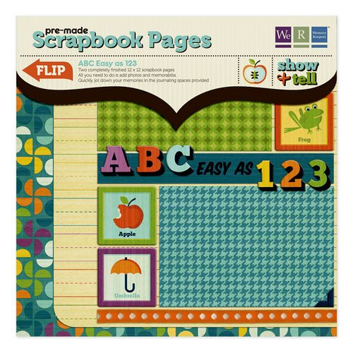 We R Memory Keepers - Show and Tell Collection - 12 x 12 Pre-made Scrapbook Pages - ABC Easy as 123, CLEARANCE