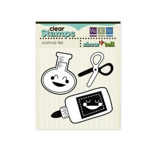 We R Memory Keepers - Show and Tell Collection - Clear Acrylic Stamps - Science Fair