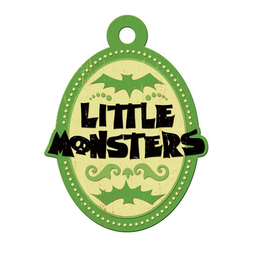We R Memory Keepers - Heebie Jeebies Collection - Halloween - Embossed Tags - Little Monsters, CLEARANCE