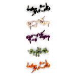 We R Memory Keepers - Heebie Jeebies Collection - Halloween - Glitter Brads, CLEARANCE