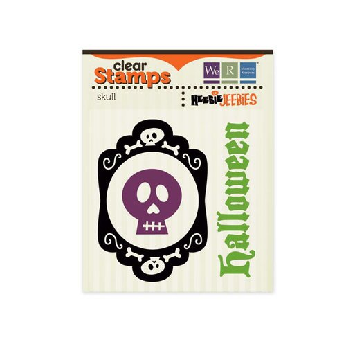 We R Memory Keepers - Heebie Jeebies Collection - Halloween - Clear Acrylic Stamps - Skull