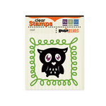 We R Memory Keepers - Heebie Jeebies Collection - Halloween - Clear Acrylic Stamps - Owl
