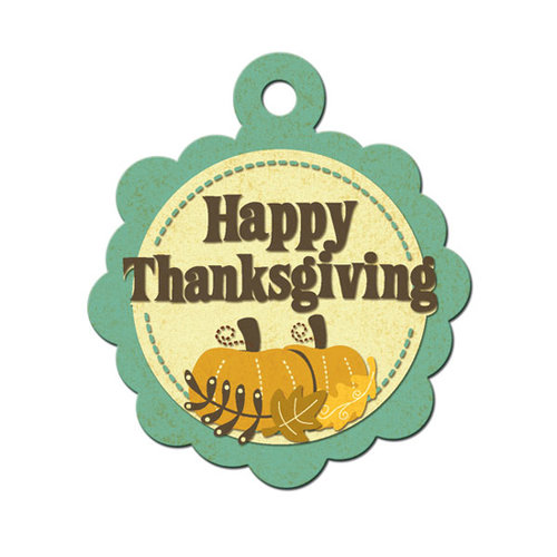 We R Memory Keepers - Maple Grove Collection - Embossed Tags - Thanksgiving