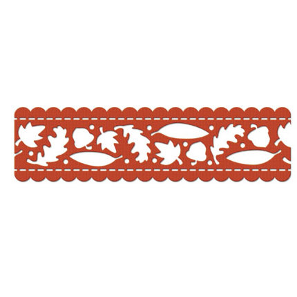 We R Memory Keepers - Maple Grove Collection - Self Adhesive Flocked Lace - Autumn Leaves, CLEARANCE