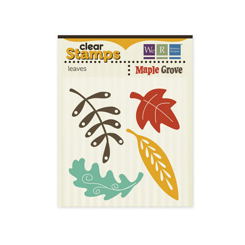 We R Memory Keepers - Maple Grove Collection - Clear Acrylic Stamps - Leaves
