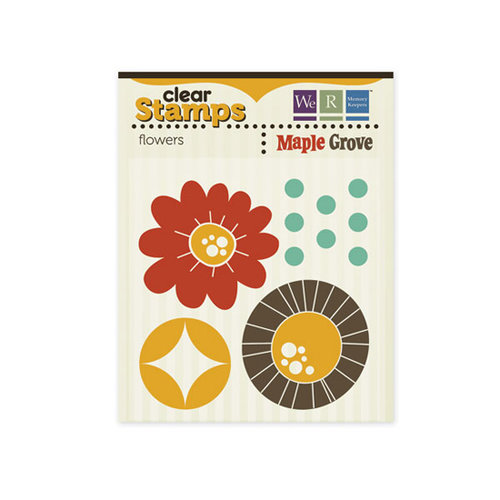 We R Memory Keepers - Maple Grove Collection - Clear Acrylic Stamps - Flowers