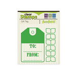 We R Memory Keepers - Funfetti Collection - Clear Acrylic Stamps - Gift Tag