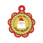 We R Memory Keepers - White Christmas Collection - Embossed Tags - Saint Nicholas