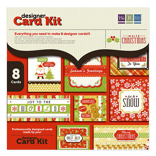We R Memory Keepers - White Christmas Collection - Card Kit