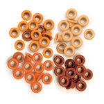 We R Memory Keepers - Eyelets - Standard - Orange