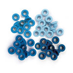 We R Memory Keepers - Eyelets - Standard - Blue