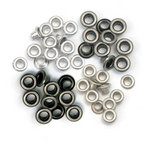 We R Memory Keepers - Eyelets - Standard - Cool Metal