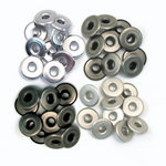 We R Memory Keepers - Eyelets - Wide - Cool Metal