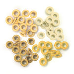 We R Memory Keepers - Eyelets - Standard - Glitter - Yellow