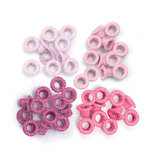 We R Memory Keepers - Eyelets - Standard - Glitter - Pink