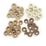 We R Memory Keepers - Eyelets - Standard - Glitter - Brown