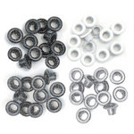 We R Memory Keepers - Eyelets - Standard - Glitter - Grey