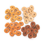 We R Memory Keepers - Eyelets - Wide - Glitter - Orange