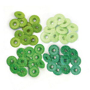 We R Memory Keepers - Eyelets - Wide - Glitter - Green