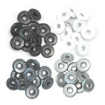 We R Memory Keepers - Eyelets - Wide - Glitter - Grey