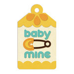 We R Memory Keepers - Embossed Tags - Baby Mine