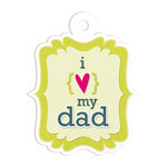 We R Memory Keepers - Embossed Tags - I Heart My Dad