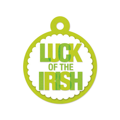 We R Memory Keepers - Embossed Tags - Luck of the Irish
