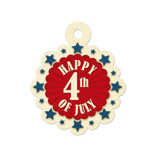 We R Memory Keepers - Embossed Tags - Happy 4th of July