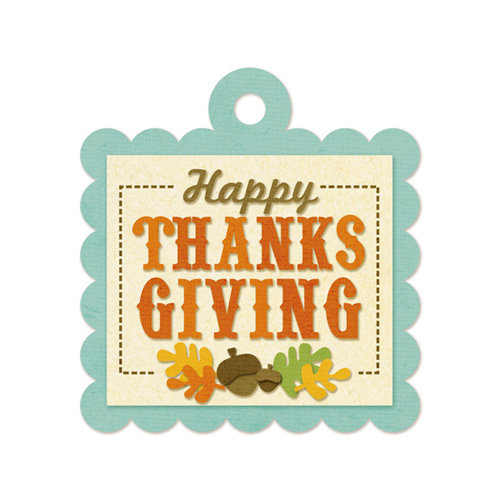 We R Memory Keepers - Embossed Tags - Happy Thanksgiving