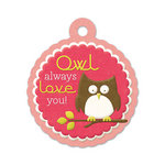 We R Memory Keepers - Be My Valentine Collection - Embossed Tags - Owl Always Love You, CLEARANCE