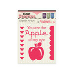 We R Memory Keepers - Be My Valentine Collection - Clear Acrylic Stamps - Apple of My Eye