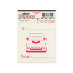 We R Memory Keepers - Be My Valentine Collection - Clear Acrylic Stamps - I Love You