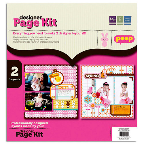 We R Memory Keepers - Peep Collection - Easter - 12 x 12 Designer Page Kit