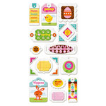 We R Memory Keepers - Peep Collection - Easter - Self Adhesive Layered Chipboard with Flocked Accents - Tags, BRAND NEW