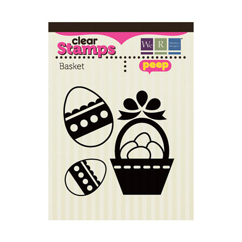 We R Memory Keepers - Peep Collection - Easter - Clear Acrylic Stamps - Basket