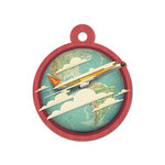 We R Memory Keepers - Travel Light Collection - Embossed Tags - Jet Set